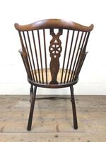 Edwardian Windsor Stick Back Armchair with Cane Seat (2 of 14)