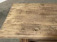Nice Large Bleached Oak Farmhouse Dining Table With Extensions (5 of 35)