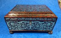 English Boulle & Brass Kingwood Edged Jewellery Box (2 of 16)