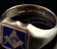 Antique Masonic Signet Ring, 9ct Gold (3 of 9)