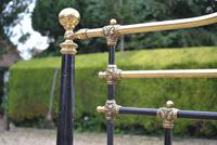 Antique King Size 5ft Half Tester Bedstead by R W Winfield. Bed Restored in your Colour (11 of 19)