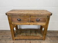 Rustic Wooden Sideboard with Two Drawers (3 of 10)