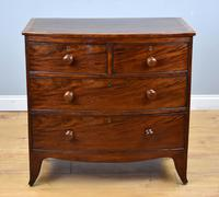 19th Century Regency Mahogany Bow Front Chest of Drawers (2 of 7)