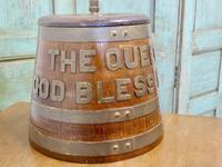 "Royal Navy ""Grog Tub"", Oak and Brass Sailor's Rum Barrel (6 of 9)"