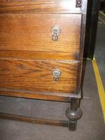 Two Drawer Fall Front Oak Bureau (3 of 3)