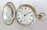 Antique Silver Half Hunter Pocket Watch, 1912 (2 of 5)