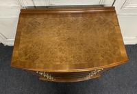 Burr Walnut Bow Front Chest (12 of 12)