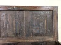 Antique 18th Century Oak Coffer with Three Panel Front (8 of 19)