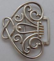 Victorian 1899 Hallmarked Solid Silver Nurses Belt Buckle William Hutton (3 of 8)
