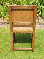 8 Waring & Gillow Chairs Oak William Morris Fabric (7 of 10)