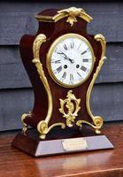 Late 19th Century Mahogany & Ormolu French Mantel Clock (7 of 7)