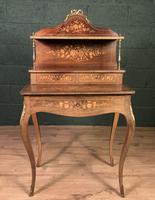 French Inlaid Rosewood Ladies Writing Table (8 of 8)