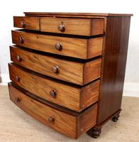 Regency Bowfront Chest of Drawers Mahogany (6 of 9)