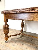 Antique Oak Draw Leaf Dining Table (4 of 10)