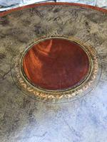 Quality Mahogany & Leather Drum Coffee Table (7 of 8)