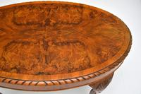 Antique Burr Walnut Oval Coffee Table (7 of 8)