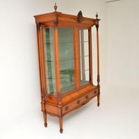 Antique Victorian  Satinwood  Display Cabinet (2 of 13)