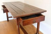 19th Century French Refectory Style Table with pull-out bread board (9 of 18)
