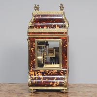 Tortoiseshell & Ormolu Mantel Clock (3 of 9)