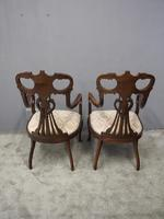 Art Nouveau Style Inlaid Mahogany Elbow Chairs (11 of 11)
