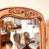 French Antique Style Dressing Table / Vanity Table with Mirror / Desk (5 of 5)