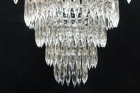 Italian Art Deco Four Tier Crystal Glass Chandelier (6 of 7)