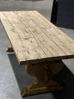 Large Rustic Bleached Oak Farmhouse Refectory Dining Table (11 of 25)