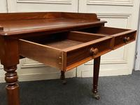 Victorian 2 Drawer Writing Table or Desk (3 of 16)