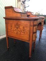Inlaid Satinwood Carlton House Desk By Maple & Co (11 of 16)