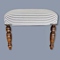 Buttoned Ticking Low Footstool (7 of 8)