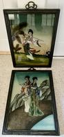 Pair of Chinese Reverse Glass Painting c.1920 (5 of 9)