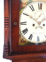 Antique Longcase Clock Fine English Oak Striking Grandfather Clock Painted Dial (7 of 10)
