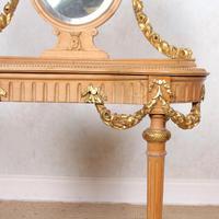 Neoclassical Marble Dressing Table Gilt Mirrored Vanity Satinwood (3 of 14)