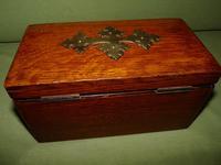 Unusual Oak Games Box - Bezique + Antique Cards + More (11 of 16)