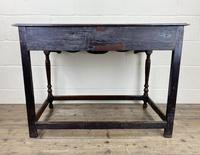 Antique Oak Two Drawer Side Table (2 of 14)