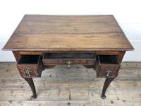 Antique 19th Century Carved Oak Lowboy Side Table (9 of 17)