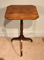 George III Mahogany Tripod Table Brass Casters (3 of 5)