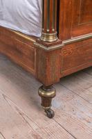 Incredible Mahogany & Brass Napoleon II Double Bed (5 of 10)