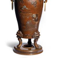 Pair of Large Meiji Period Bronze Vases (7 of 9)