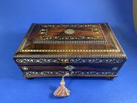 Regency Rosewood Table Box with Brass Foliate Inlay (11 of 12)