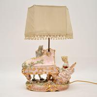 Antique Italian Capodimonte Porcelain Table Lamp (10 of 11)