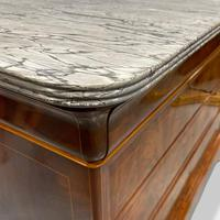 Exceptional Quality Inlaid Marble Top Commode (8 of 12)