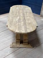 Huge French Bleached Oak Monastery Dining Table (29 of 30)