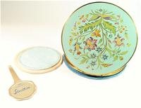 Rare Unused 1930s Hand Painted Enamel Stratton Powder Compact (7 of 8)