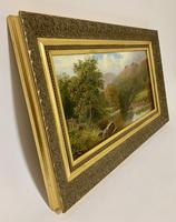 Antique Oil on Canvas of a Countryside Scene (8 of 9)