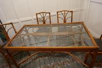Regency Style Simulated Bamboo Conservatory Table & 6 Chairs (7 of 7)