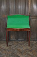 Chippendale Serpentine Mahogany Card Table (4 of 10)