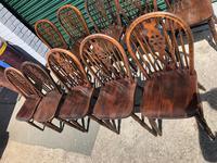 Harlequin Set 10 Ash & Elm Kitchen Chairs (7 of 10)