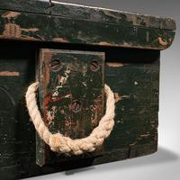 Small Antique Mariner's Trunk, English, Pine, Chest, Late Victorian c.1900 (12 of 12)