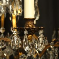 French Gilded Bronze & Crystal Chandelier (6 of 10)